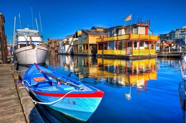 Fisherman's Wharf em Victoria