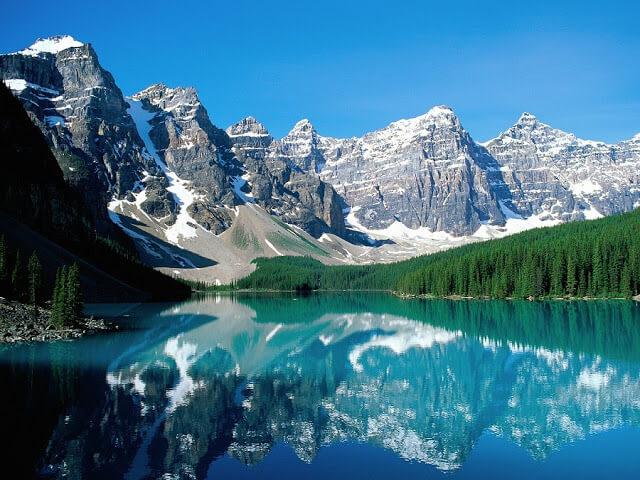 Lago Moraine no Canadá