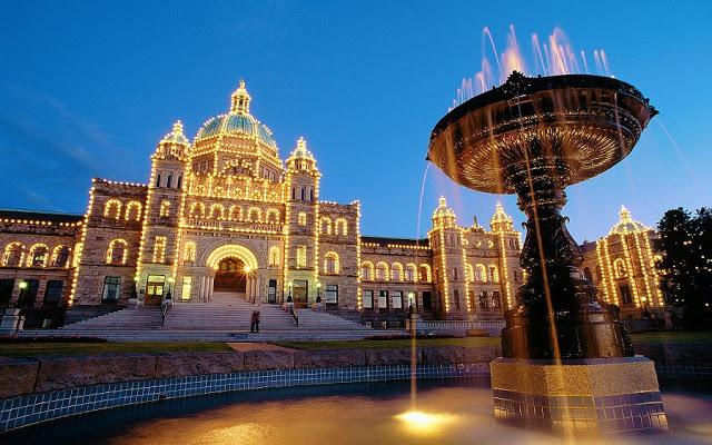 British Columbia Parliament Buildings em Victoria no Canada