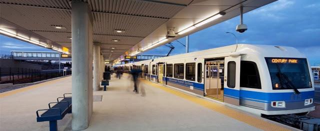 LRT – Light Rail Transportation em Edmonton