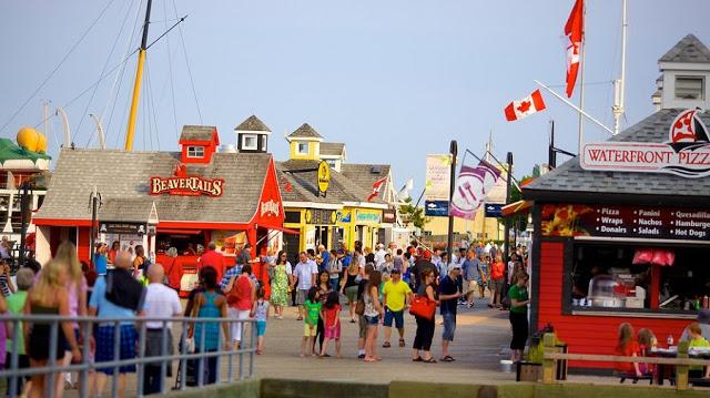Barraquinhas localizadas no Waterfront