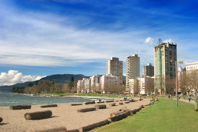 English Bay Beach em Vancouver