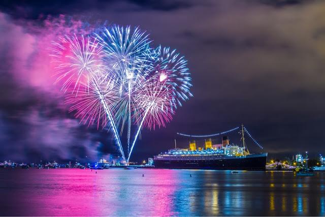 Ano-novo nos navios de Vancouver